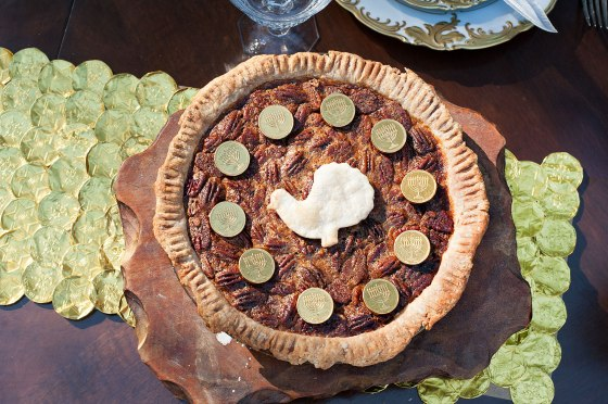 Bourbon Pecan and Gelt Pie