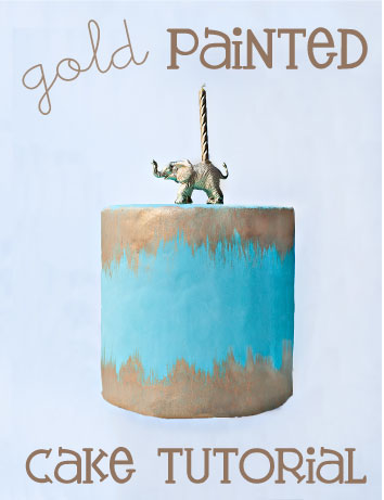 Gold Paint Cake Tutorial